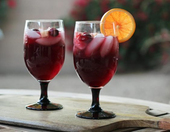 Beautiful Festive Red Wine Sangria Artful Dishes