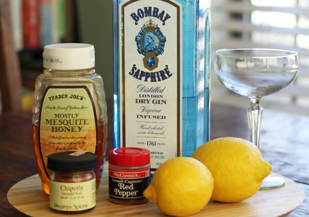 Spicy Bees Knees Ingredients Gin Honey Simple Syrup Lemon Artful Dishes