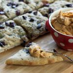 Focaccia with Olives and Rosemary Served with Hummus - A Three Ingredient Appetizer | www.artfuldishes.com