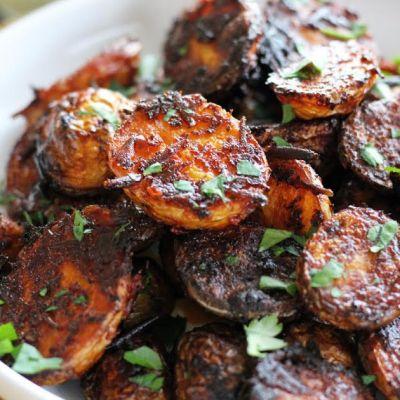 Spicy Harissa Roasted Potatoes