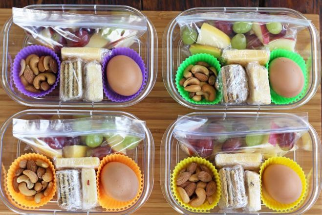 Protein box lunches meal planning artful dishes the completed protein box lunches with fruit nuts cheese crackers and hard boiled eggs artfuldishes forumfinder Gallery