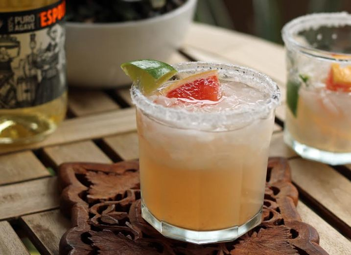Double Citrus Margarita with Grapefruit Lime and Tequila | artfuldishes.com