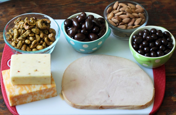 Ingredients for Protein Snack Boxes with Turkey and Cheese | www.artfuldishes.com