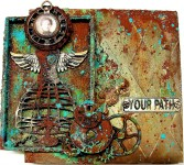 Find Beauty in Decay - mixed media collage/assemblage