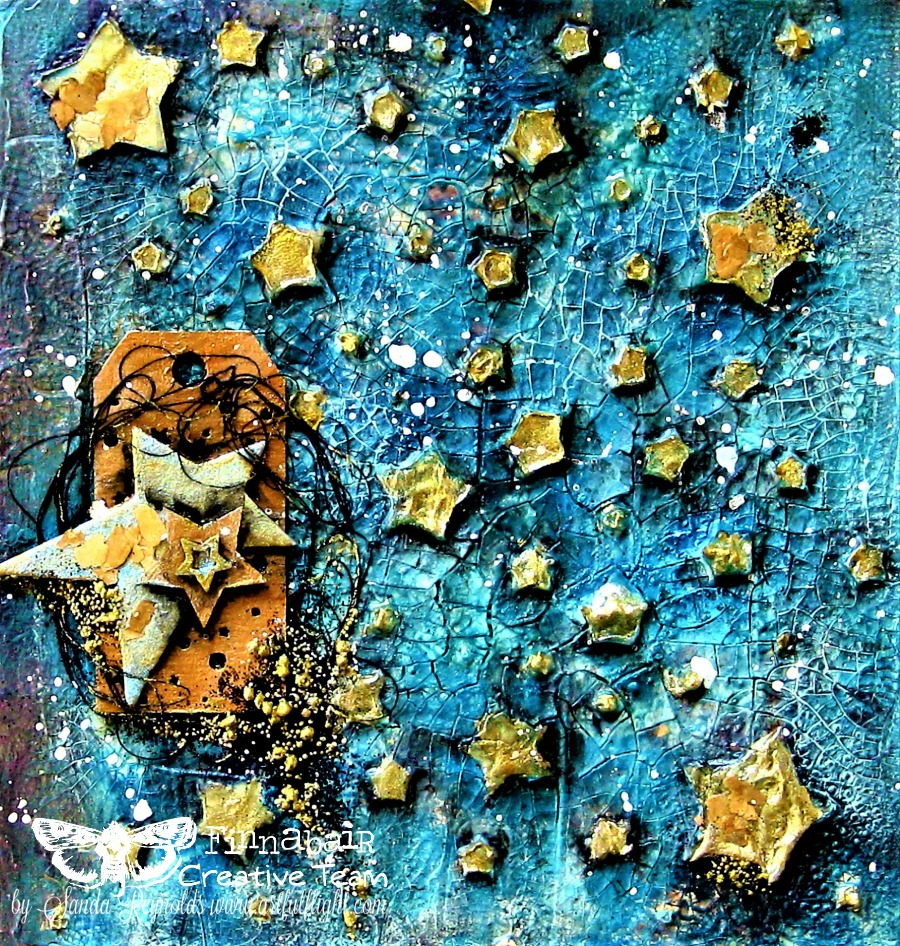 Reach for the Stars - mixed media art journal page