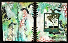 "Art journal page ""Finding my soul..."" for Finnabair CT"