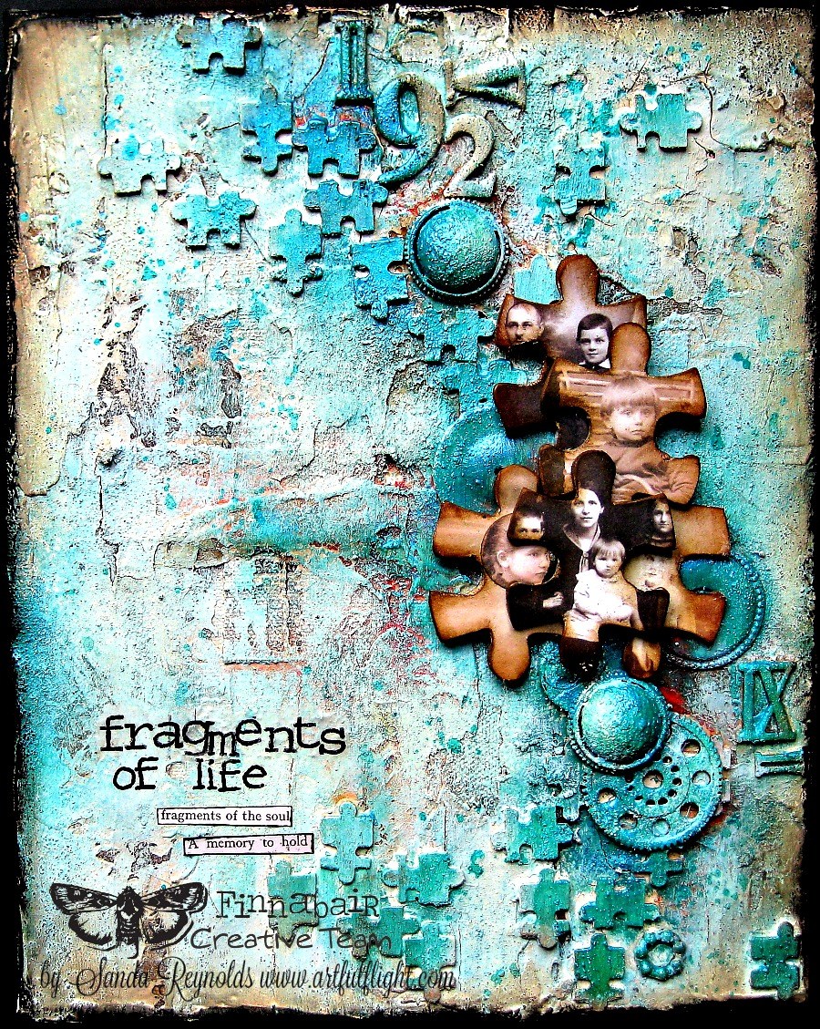 "Mixed Media Collage Canvas Tutorial ""Fragments"" for Finnabair CT"