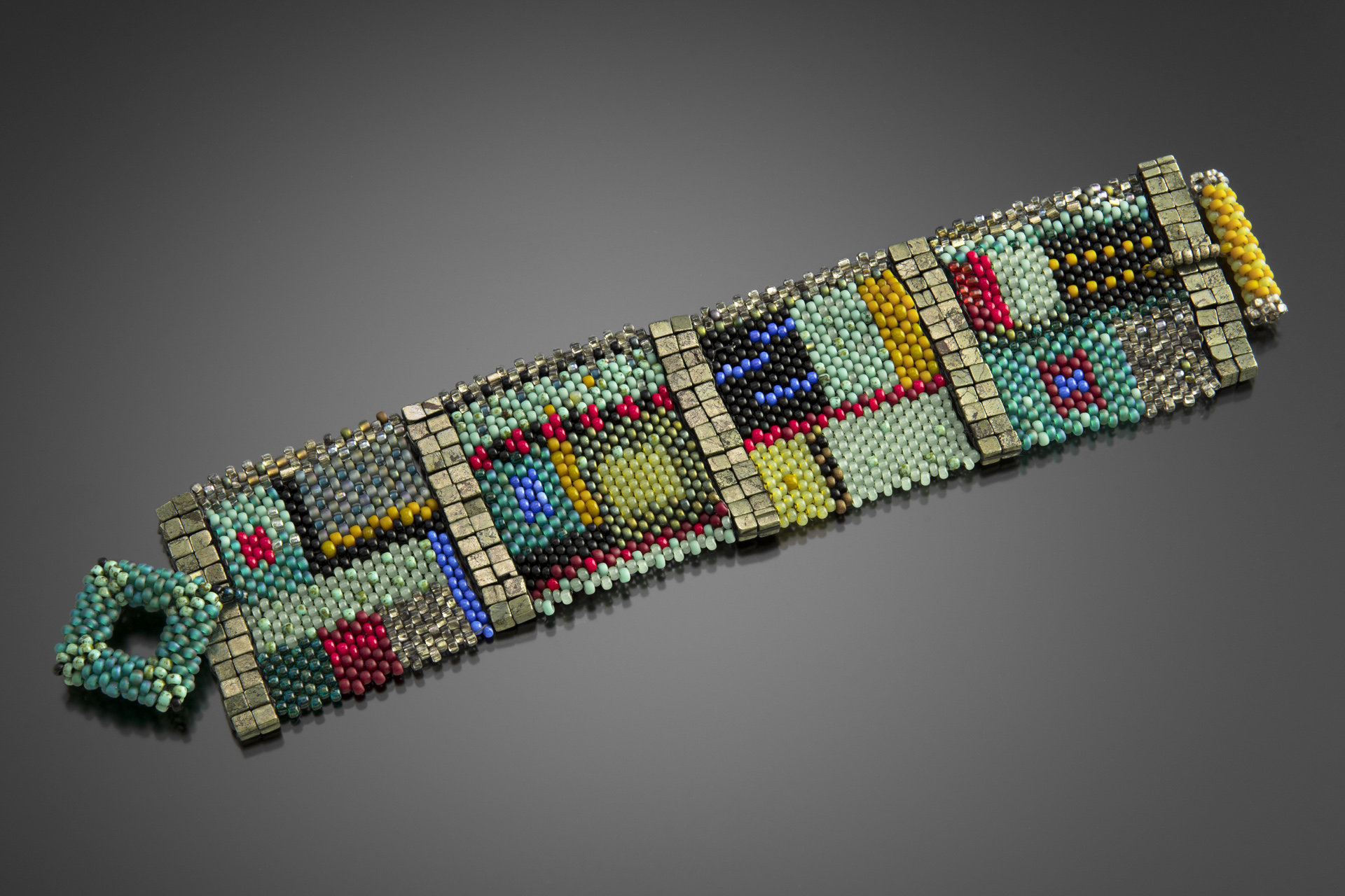 Colorfield Cuff By Julie Powell Beaded Bracelet Artful Home