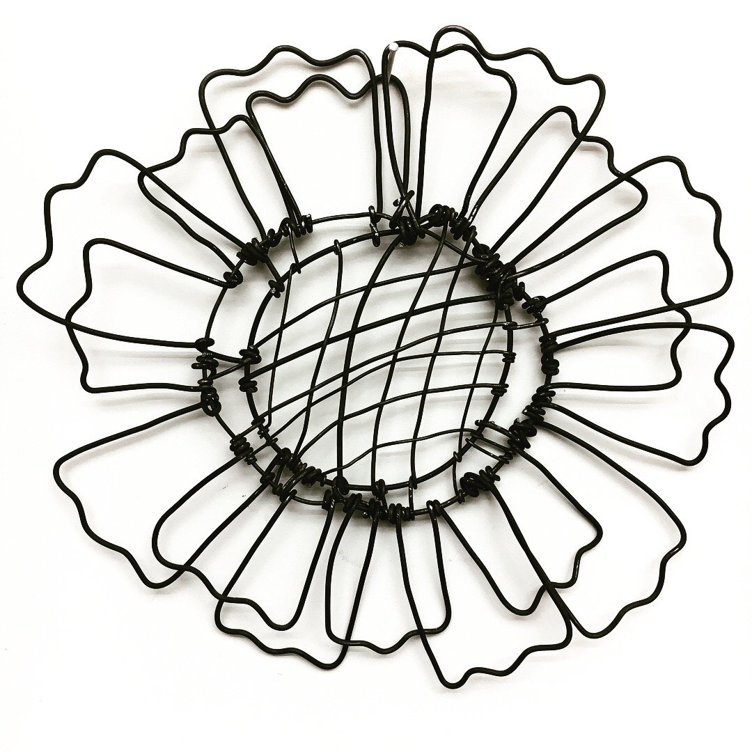 Wire Bloomer 2 By Barbara Gilhooly Metal Wall Sculpture