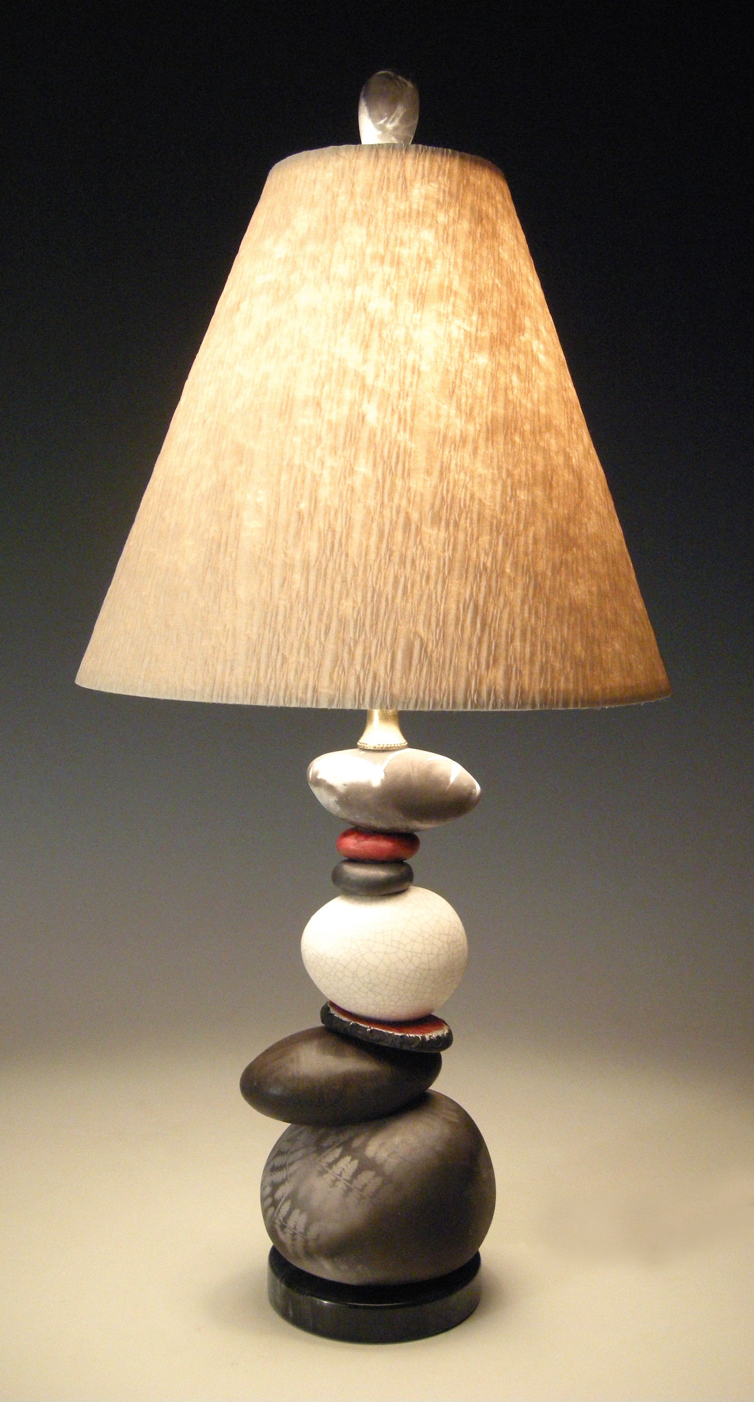 Shadow And Light By Jan Jacque Ceramic Table Lamp Artful Home