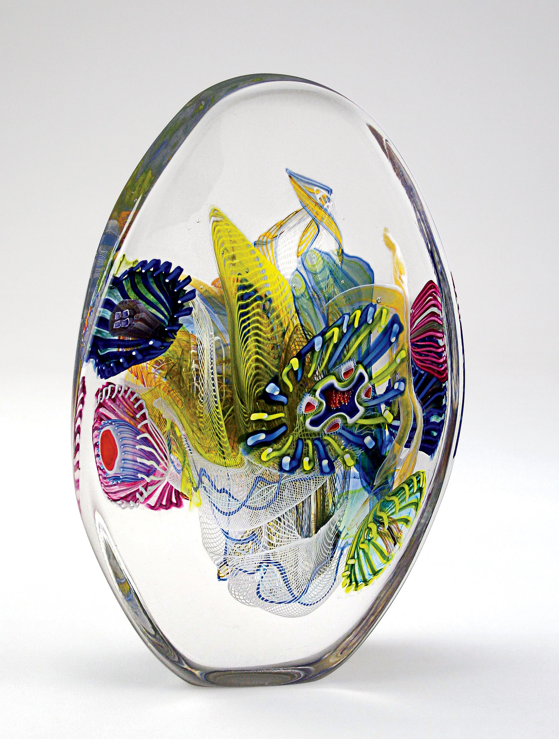 Crystal Optical III By Wes Hunting Art Glass Sculpture Artful Home