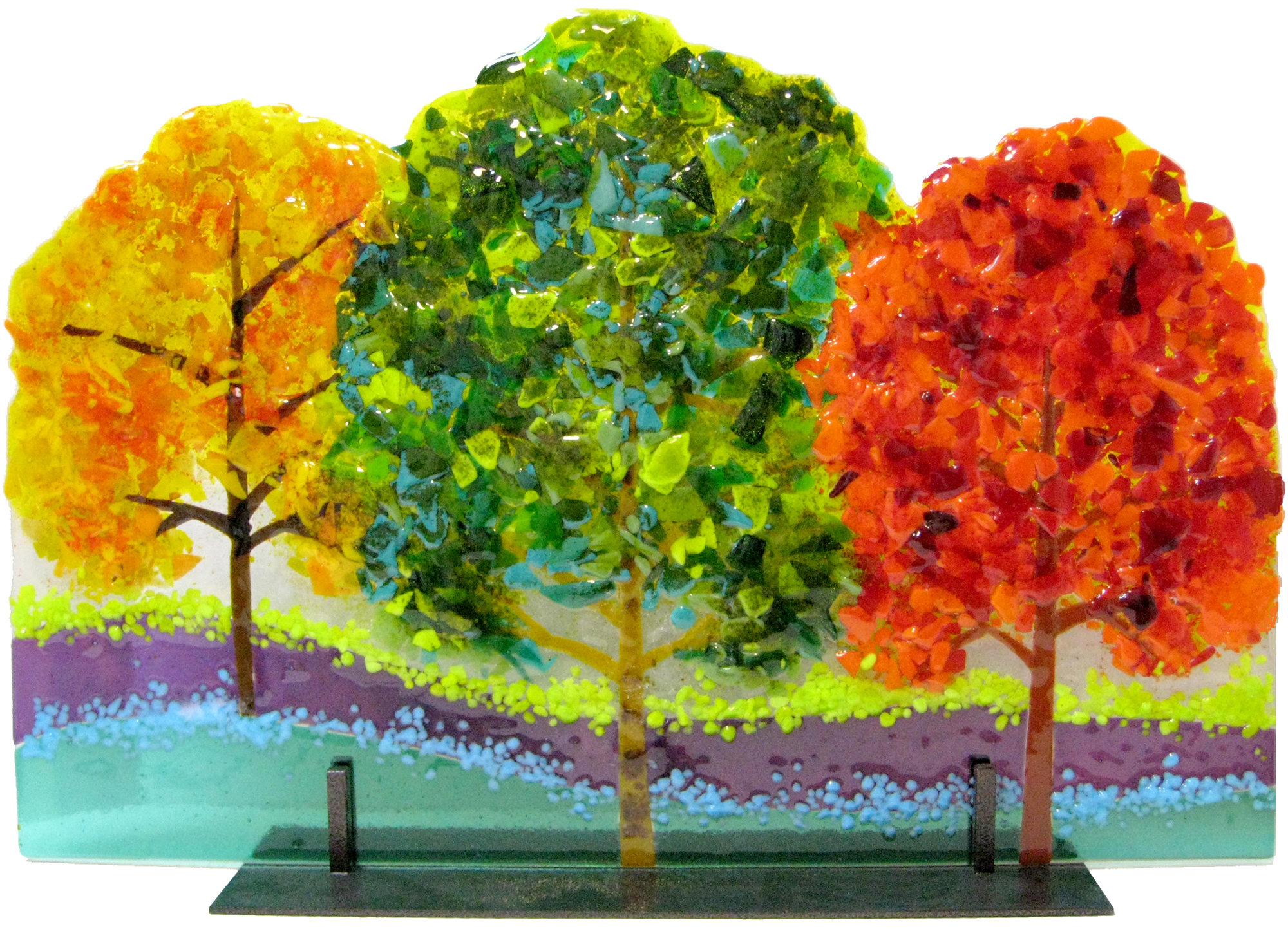 Three Trees By Anne Nye Art Glass Sculpture Artful Home