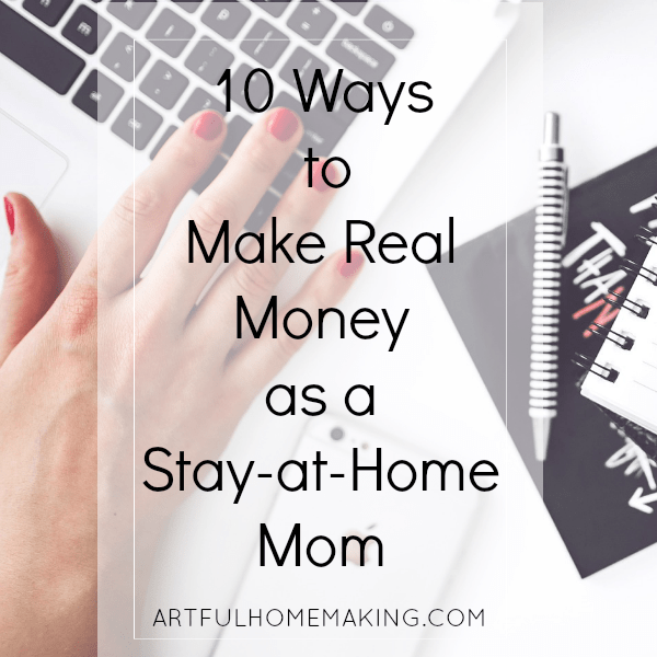 make money as a stay-at-home mom