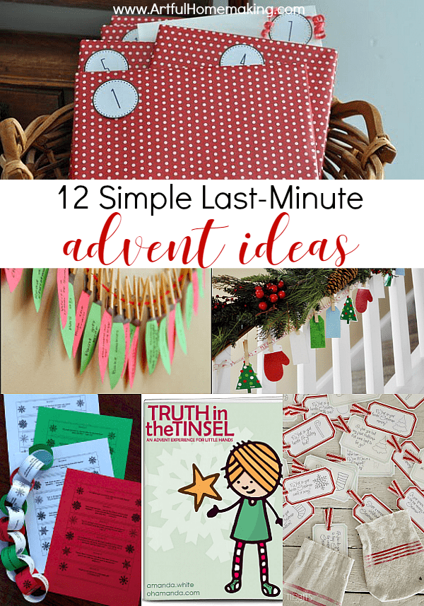 12 last-minute advent ideas