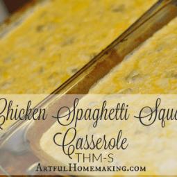 Trim Healthy Mama Chicken Spaghetti Squash Casserole (S)