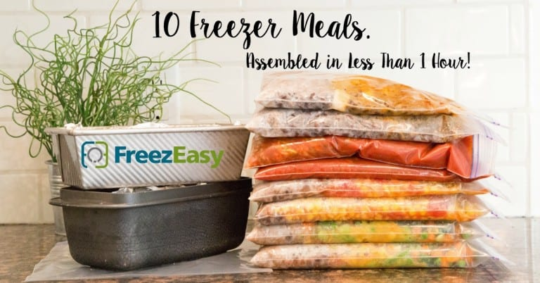 Save time with freezer meals!
