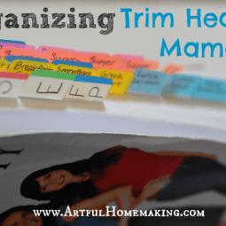 Organizing Trim Healthy Mama