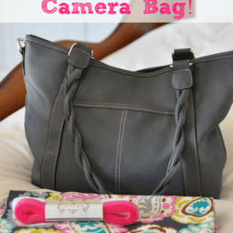 Turn a Purse Into a Camera Bag {Tutorial}