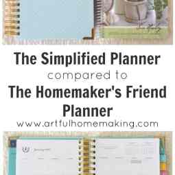 Simplified Planner vs. The Homemaker's Friend Planner