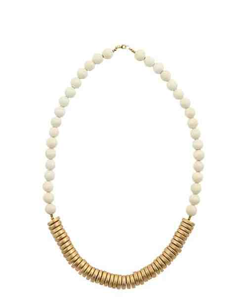 White Gold Wood Necklace