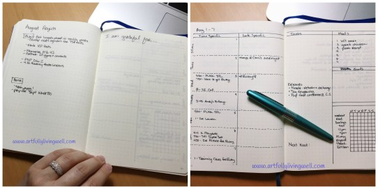 current Bullet Journal layout
