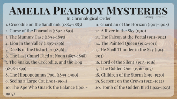 Amelia Peabody Mysteries - Artfullylivingwell.com