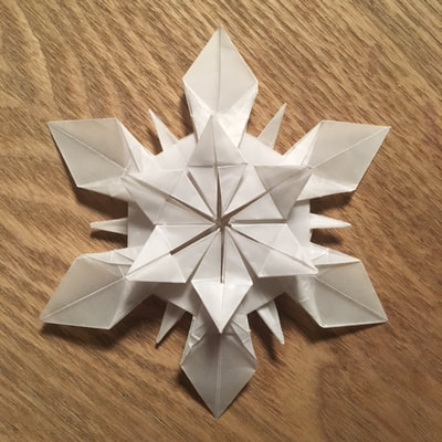 Let It Snow Origami Snowflakes Artful Maths