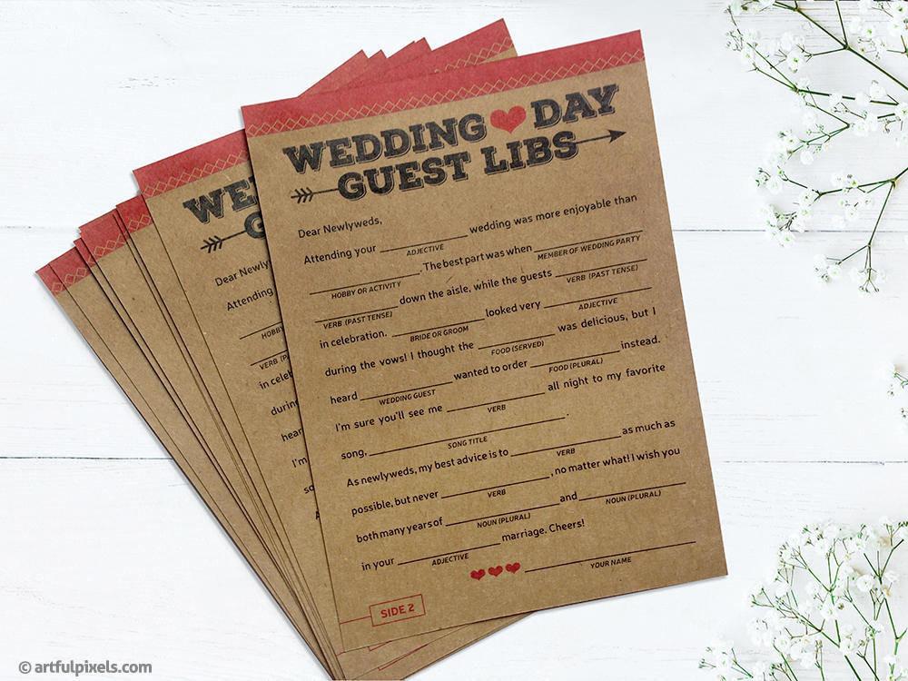 Guest Libs Wedding Game Artful Pixels