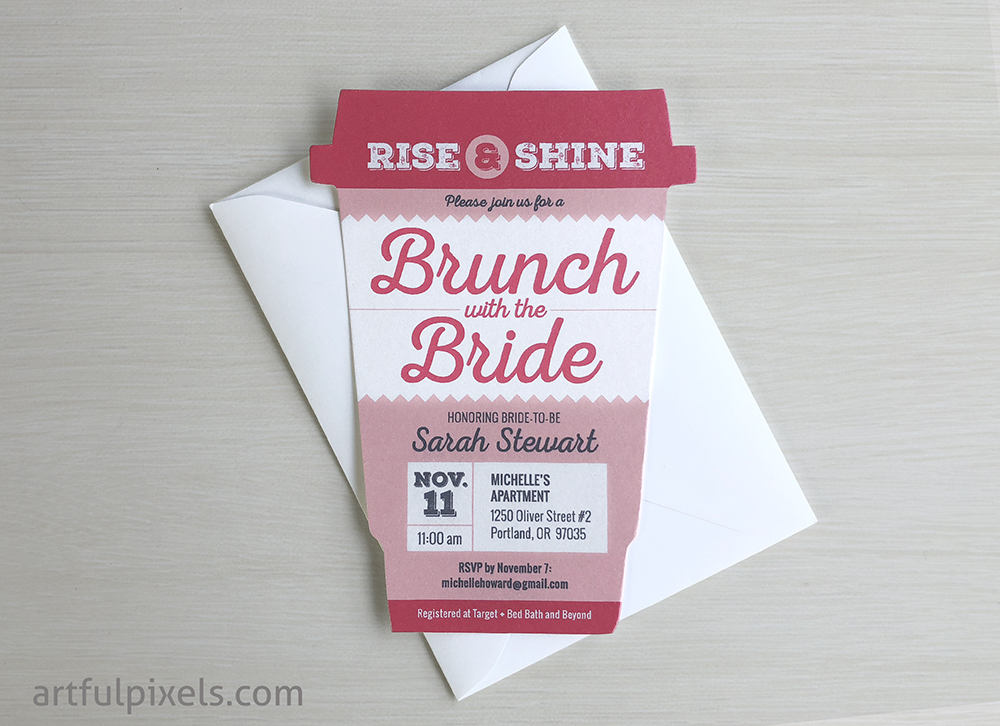 Day After Wedding Brunch Invitation: Bridal Brunch Invitation
