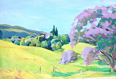Acrylic Landscape Painting Tutorials How To Paint A Tree Art Lessons