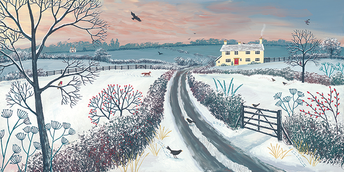 Jo Grundy Coming Home For Winter Canvas Print The Art