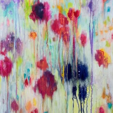 Close up from one of my abstract meadow Paintings
