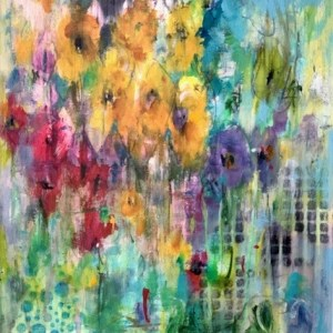 abstract floral painting