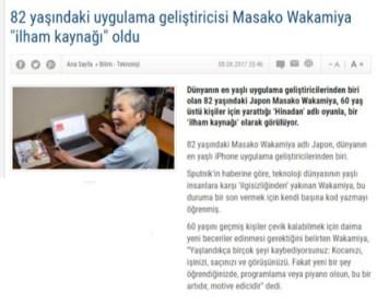 Yaşınız kaç? Masako Wakamiya, 82 yaşında oyun programı yazıyor.