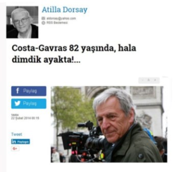 Yaşınız kaç? Costa Gavras 82 yaşında, hala dimdik ayakta!