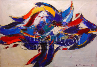 Abstract art   Modern art Mystic woman    Gagik Manoukian