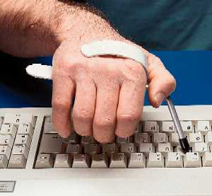 Type Aid Helps Arthritic Hands To Depress Keys Easier