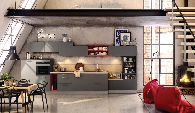 une cuisine urbaine de style industriel