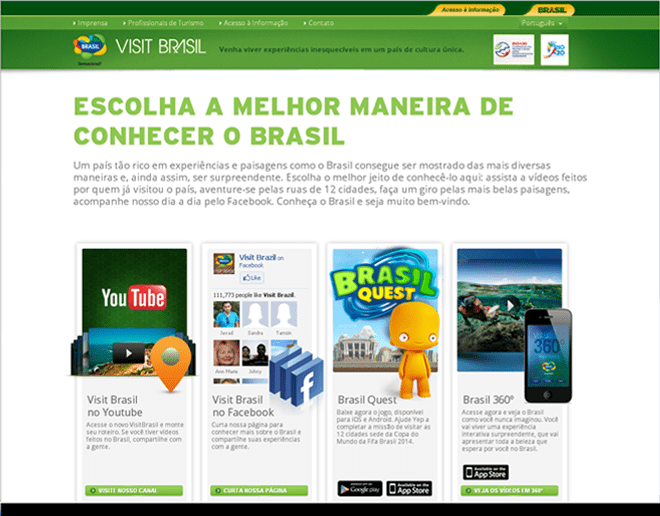 Brazil Official International Tourism Websites