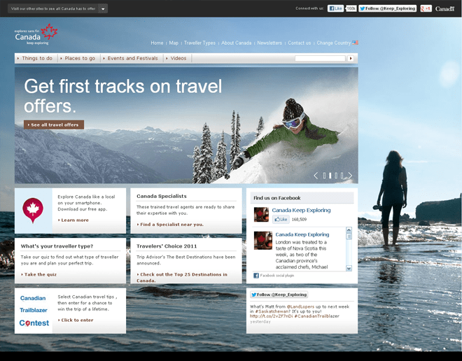 Canada Official International Tourism Websites