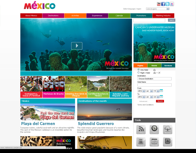 Mexico Official International Tourism Websites