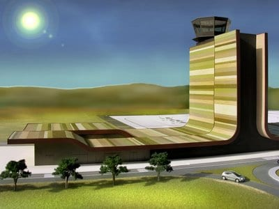 Artist's impression of the new airport at Lleida