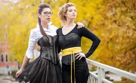 Photographe de portrait et mode à Namur avec deux mannequins