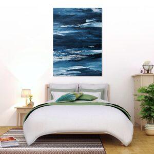 Cuadro pintura azul