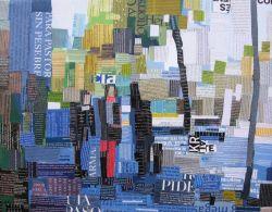 """""""Paseo"""". Jesús F. Navarro. Acrílico y collage tipográfico sobre lienzo"""