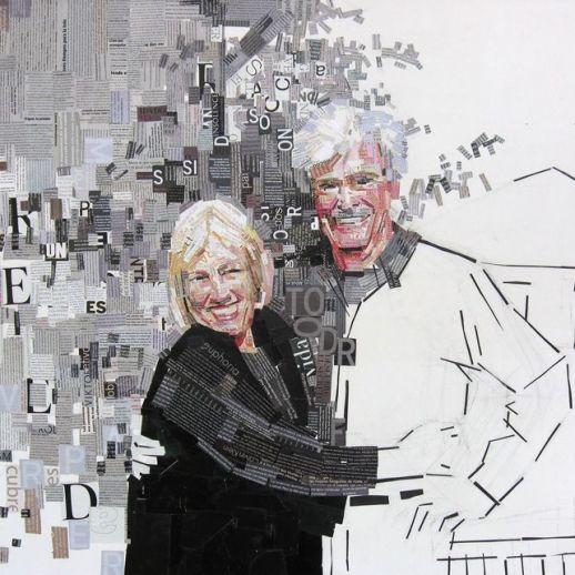 """""""We You"""". Jesús F. Navarro. 100 x 80 cm. Collage Tipográfico sobre lienzo. 2009"""