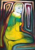 """Alone"". Antonio Marsiglio. Óleo sobre tela 60 x 90 cm."