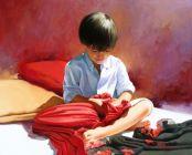 """""""Cuantos Pañuelos"""". José Higuera. 5900€. 81 x 100 cm. Acrílico y óleo sobre tela"""