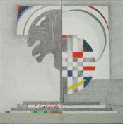 """Divergente 1"". Ricardo García Barragán. 60 x 60 cm. (díptico). Técnica mixta sobre tela"