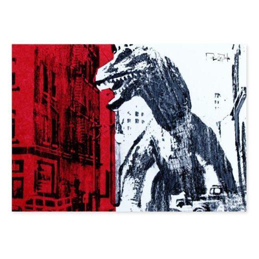 """Dinosaurio 3"". Plastik. 15x20 cm. Técnica mixta sobre papel"